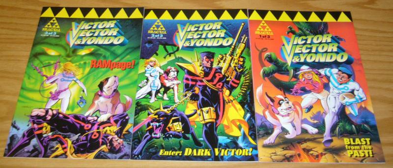 Victor Vector & Yondo #1-3 VF/NM complete series KEN STEACY 1994 fractal comics