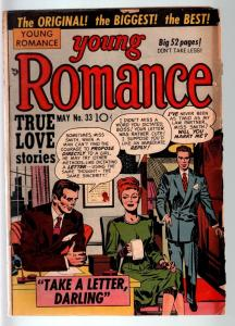 YOUNG ROMANCE #33-1951-EARLY JOE SIMON & JACK KIRBY ROMANCE COMIC  G C G