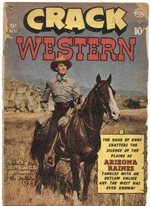 CRACK WESTERN #67-1950-RANDOLPH SCOTT PHOTO COVER-ARIZONA AMES