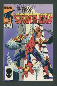 Web of Spiderman #2 /  9.6 NM+   May 1985
