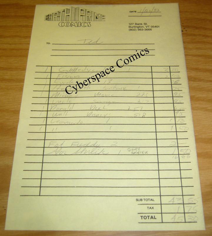 Gobbledygook #1 & 2 FN+ teenage mutant ninja turtles with original receipt RARE