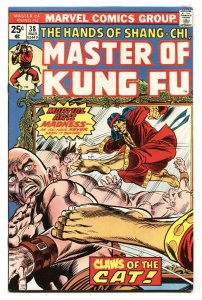 Master of Kung Fu #38 1976 comic book 1st appearance of The Cat