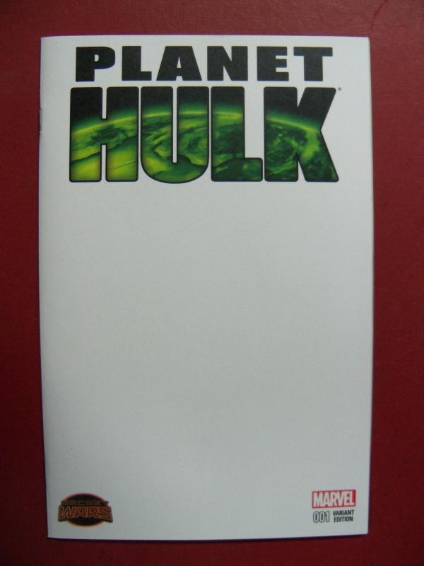 PLANET HULK, SECRET WARS #1, BLANK   VARIANT COVER, MARVEL