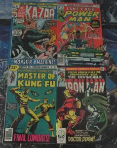 British Marvel high grade Collection! 4 books VF! Iron Man 150, Kazar, Shang Chi