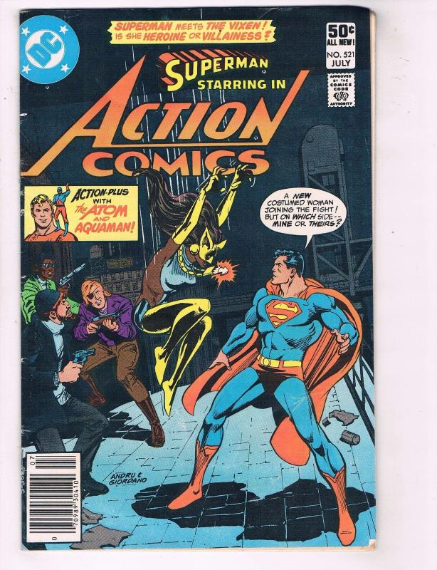 Action Comics # 521 FN 1st Appearance Of Vixen Suicide Squad Key Issue DC J76