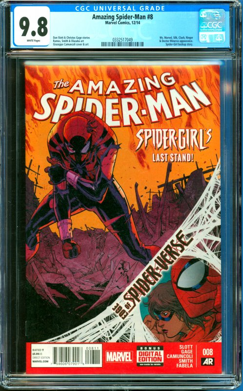 Amazing Spider-Man #8 CGC Graded 9.8 Spider-Girl backup story