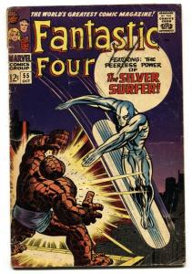 FANTASTIC FOUR #55 G+ comic book 1966-KEY ISSUE-SILVER SURFER KIRBY