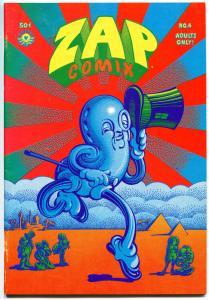 ZAP #4, VF, Robert Crumb, Clay Wilson, Underground, 1969, 2nd, more UG in store