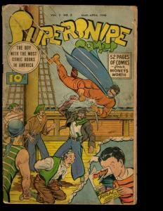 Supersnipe Comics Vol. # 3 # 2 VG Comic Book Golden Age 1946 Huck Finn NE3