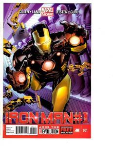 8 Iron Man Marvel Comic Books # 1 2 6 8 10 12 13 23 Mandarin Gillen Land MS10
