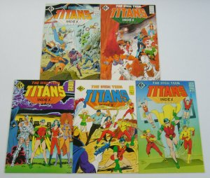 Official Teen Titans Index #1-5 VF/NM complete series 1985 ICG dc comics 2 3 4
