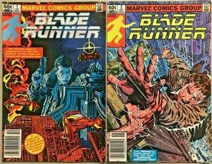 BLADE RUNNER#1 & 2 VF LOT 1982  MARVEL BRONZE AGE COMICS