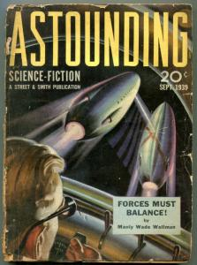 Astounding Pulp September 1939- L RON HUBBARD- Forces Must Balance- FAIR