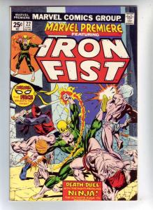 Marvel Premier #22 (Dec-74) VF/NM- High-Grade Iron Fist