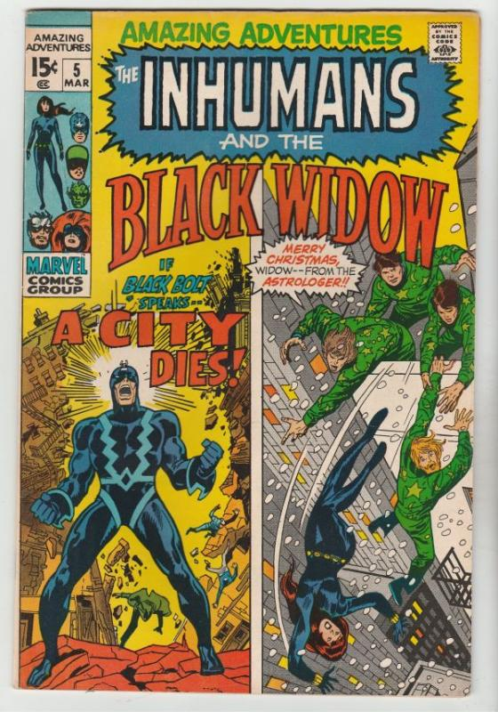 Amazing Adventures #5 (Dec-70) VF/NM High-Grade Black Widow, Inhumans