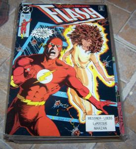 FLASH # 39 jun 1990 dc comics  cw tv show  WALLY WEST linda park