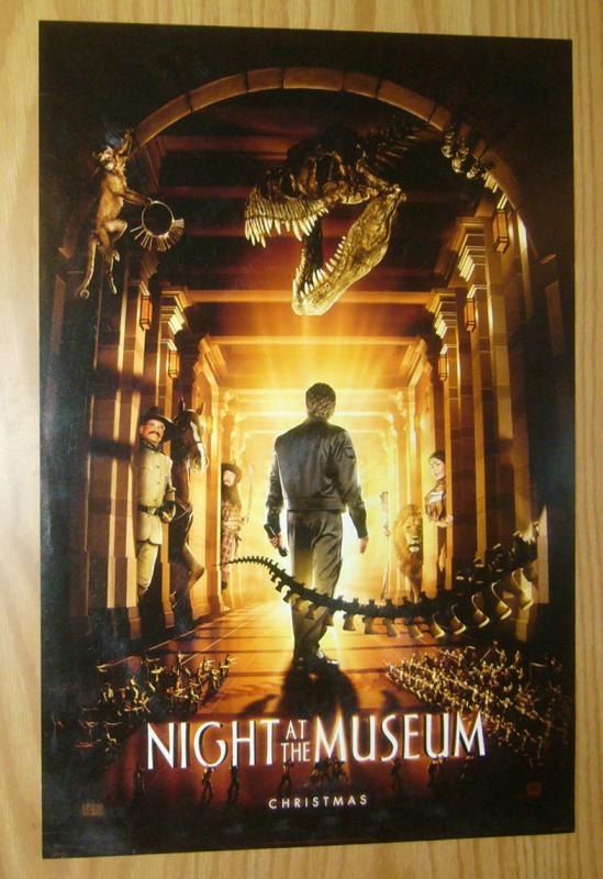 Night at the Museum movie poster - 13.5 x 19.75 - ben stiller - christmas
