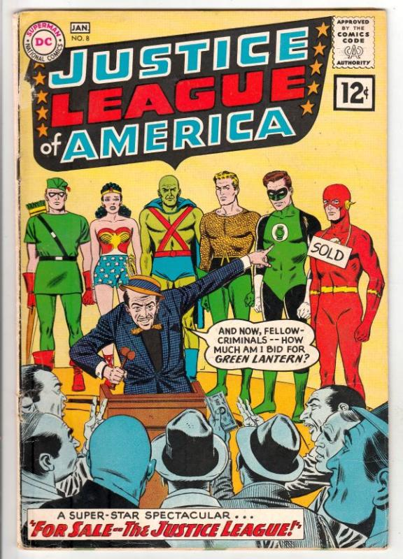 Justice League of America #8 (Jan-62) VG+ Affordable-Grade Justice League of ...