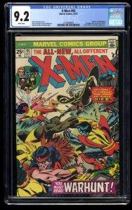 X-Men #95 CGC NM- 9.2 White Pages Death of Thunderbird! Marvel Comics
