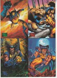 Marvel Masterpieces Uncut 4 Card Promotional Trading Sheet(Fleer Ultra, 1995)