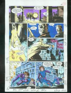 ORIGINAL D.C. COLOR GUIDE ROBIN ANNUAL #2 PG 22-SIGNED VG