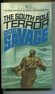 DOC SAVAGE-THE SOUTH POLE TERROR-#77-ROBESON-fine-FRED PFEIFFER COVER-1ST E FN