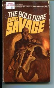 DOC SAVAGE-THE GOLD OGRE-#42-ROBESON-G-JAMES BAMA COVER-1ST EDITION G