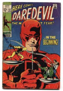 DAREDEVIL #53 1969 MARVEL COMICS-ORIGIN RETOLD comic book