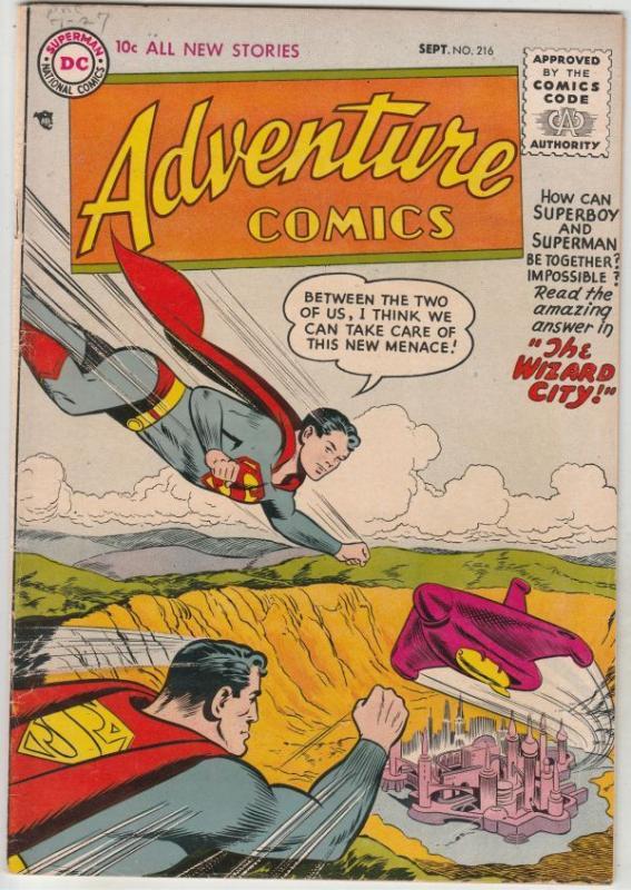 Adventure Comics #216 (Sep-55) VF/NM High-Grade Superboy, Green Arrow, Speedy...