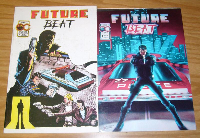 Future Beat #1-2 FN complete series - oasis comics - cop/crime - indy set 1986