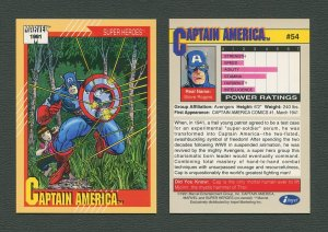 1991 Marvel Comics II  Card  #54 ( Captain America )  MINT