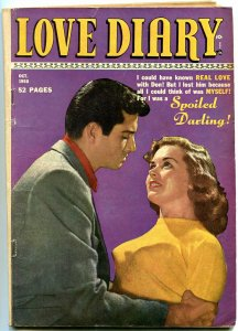 Love Diary #9 1950- Golden Age Romance- Headlight Photo cover-Too Young for love