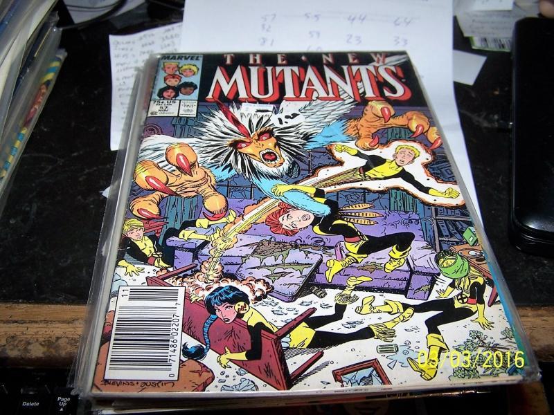 NEW MUTANTS # 57  1987  MARVEL XMEN  bird-brain + hellions emma frost