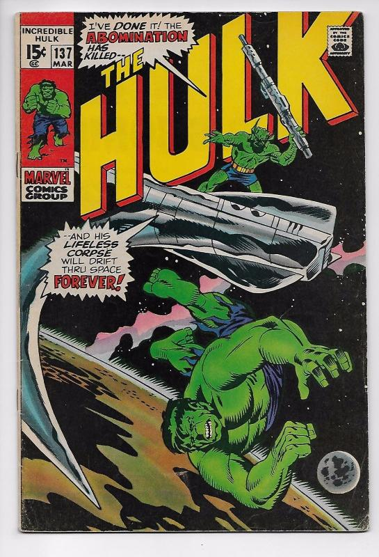 Incredible Hulk #137 - Abomination / 1st App of Cybor (Marvel, 1971) FN+