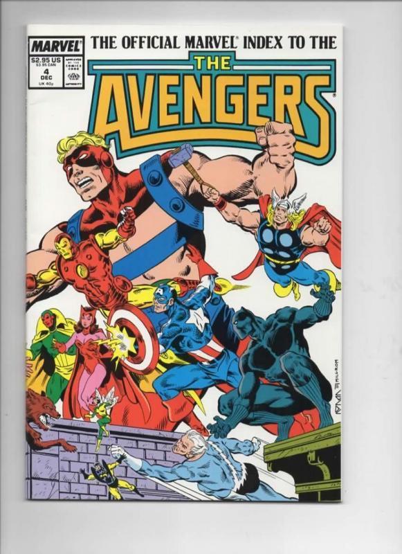 Marvel Index AVENGERS #4, VF/NM, Ultron, Captain America, Iron Man