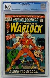 Marvel Premiere #1 CGC 6.0 Marvel Comics 1972. First App of Him as Adam Warlock.