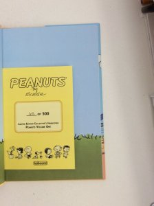 PEANUTS VOLUME ONE LIMITED EDITION  NUMBERED COLLECTORS HARDCOVER  NM RARE!!