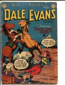 DALE EVANS COMICS-#22-1952-HORSE FIGHT COVER-WESTERN B MOVIE STAR-vg