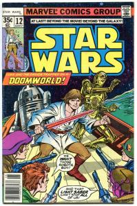 STAR WARS #12, FN/VF, Luke Skywalker, Darth Vader, 1977, more SW in store