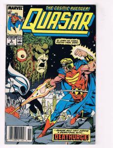 Quasar The Cosmic Avenger #2 VG/FN Marvel Comics Comic Book Nov 1989 DE34