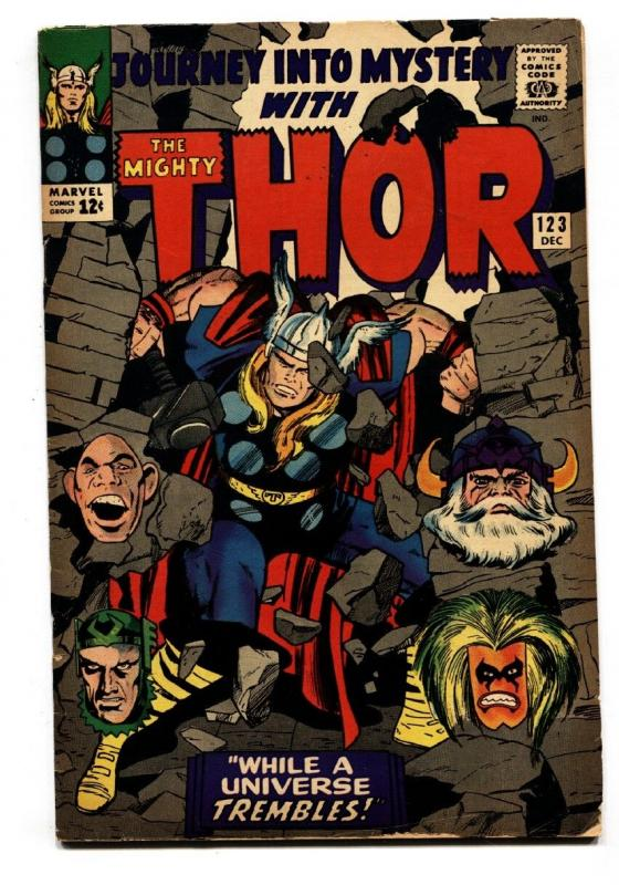 JOURNEY INTO MYSTERY #123-comic book-SILVER AGE MARVEL--THOR--JACK KIRBY