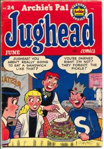 Archie's Pal Jughead #24 1954-Betty & Veronica-giant sandwich-Katy Keene-FN