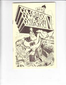 Colorado Comic Art Convention #4 VF hulk by bill sienkiewicz - joe kubert - rare