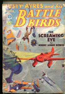 DUSTY AYRES AND HIS BATTLE BIRDS 10/1934-AVIATION PULP-CLASSIC COVER-good