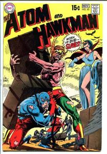THE ATOM AND HAWKMAN #45 1969 - Joe Kubert art - Cool! FN-