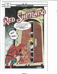Red Shetland # 6 FN/VF Graphxpress Comic Book 1990 Red Sonja Parody Animal J289