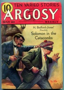 Argosy Weekly Pulp May 20 1933-Solomon in the Catacombs FN