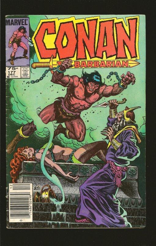 Marvel Comics Conan The Barbarian Vol 1 No 177 December 1985