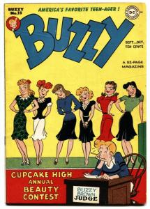 Buzzy #15 1947-DC-Teen Humor-Good Girl Art FN