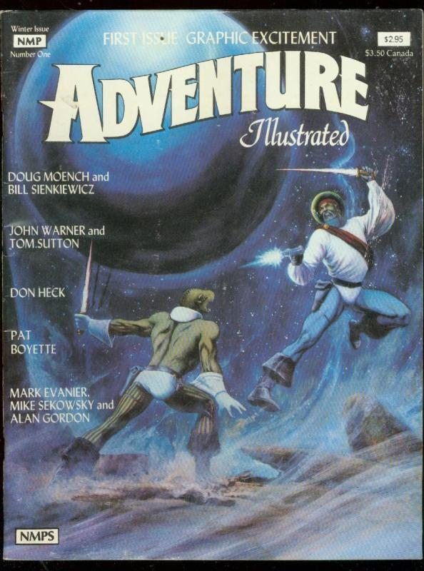 ADVENTURE ILLUSTRATED #1 1981-DON HECK-BOYETTE-EVANIER G